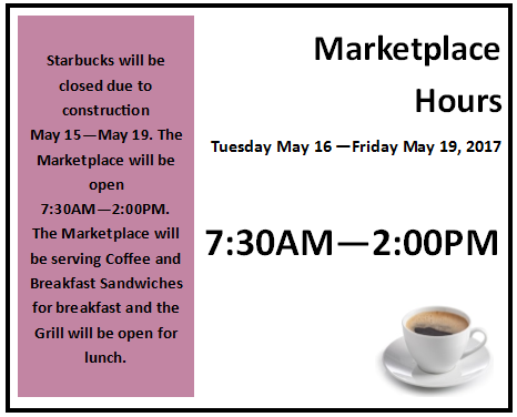 Marketplace Hours